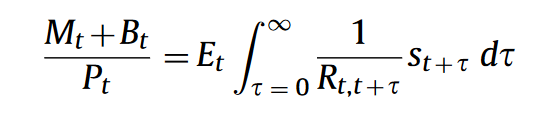 政府債務評価方程式